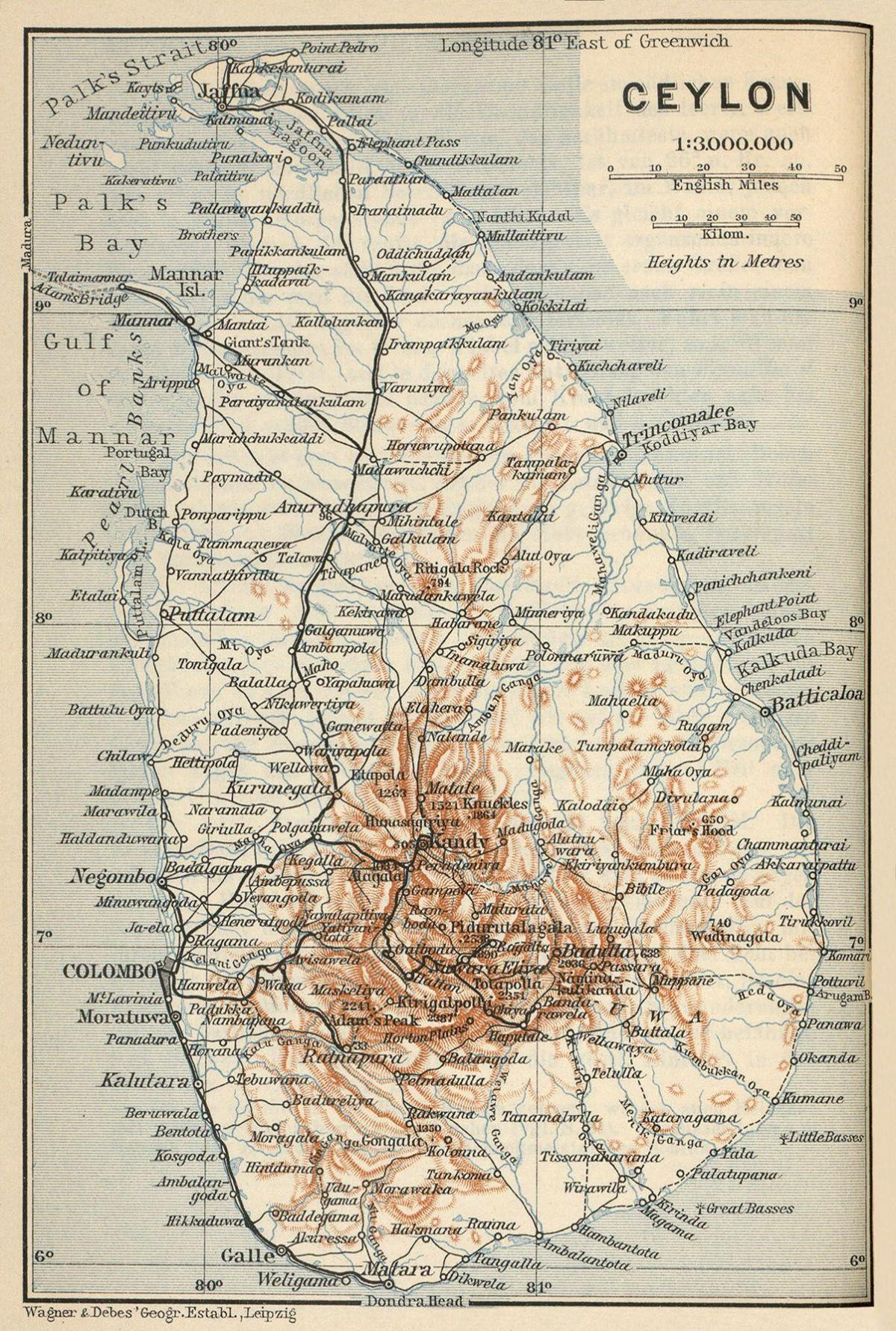 Ceylon on map