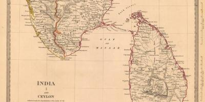 Old Ceylon map