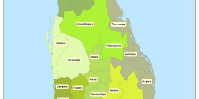 District in Sri Lanka map