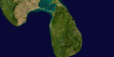Online satellite map of Sri Lanka